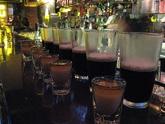 An Irish Car Bomb is a great party drink